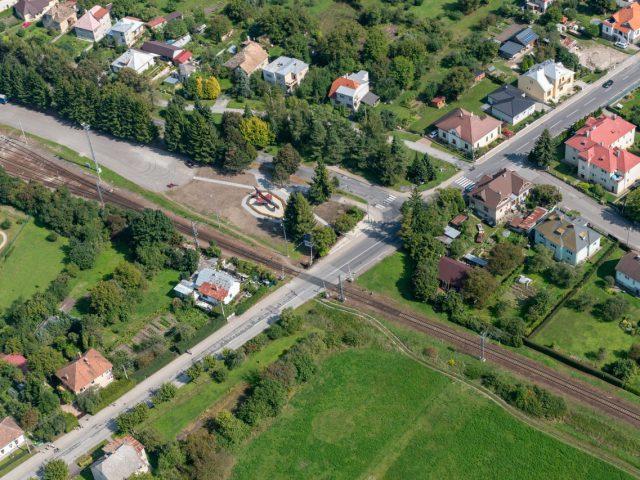 Letecký pohľad na Park Tri duby
